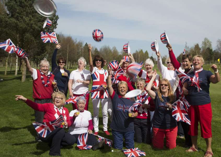 Members of Tydd St Giles ladies golf team celebrate the Queen's 90th birthday.
