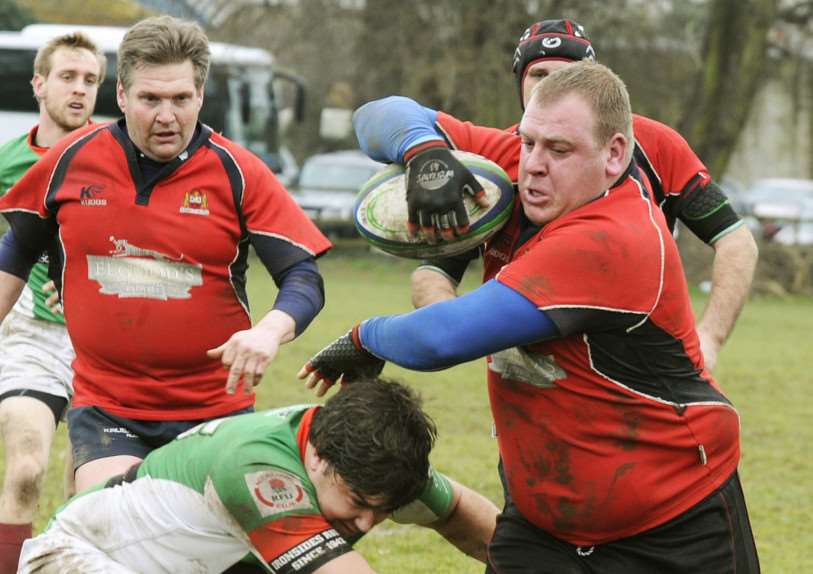 Action from the Wisbech Rugby 1st team Junior Vase Semi Final ANL-150215-095037009