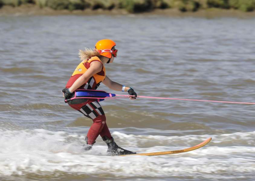 Ski Racing event King's Lynn South Quay, action begins ANL-150824-090703009