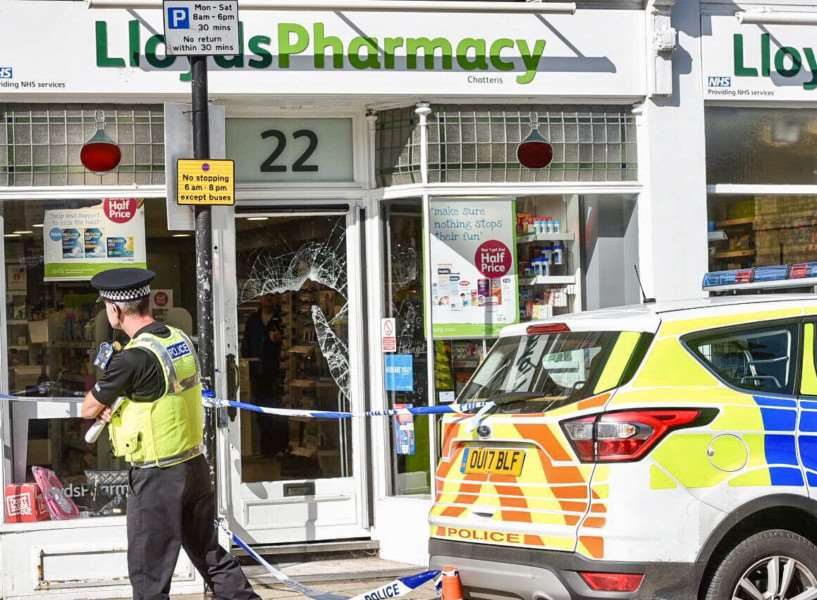 Lloyds Pharmacy in Chatteris High Street has been targeted by burglars.