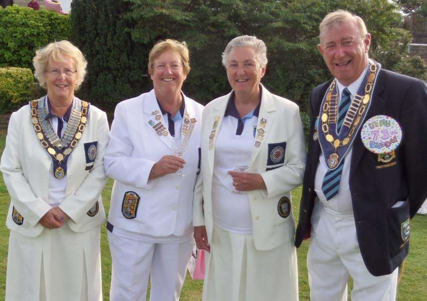 The attached photo shows from left to right Lynne Quibell North Cambs EWBF President, Margaret Hunt, June Warren and Ralph Jackson North Cambs EBF President on Ralph's 73rd birthday.