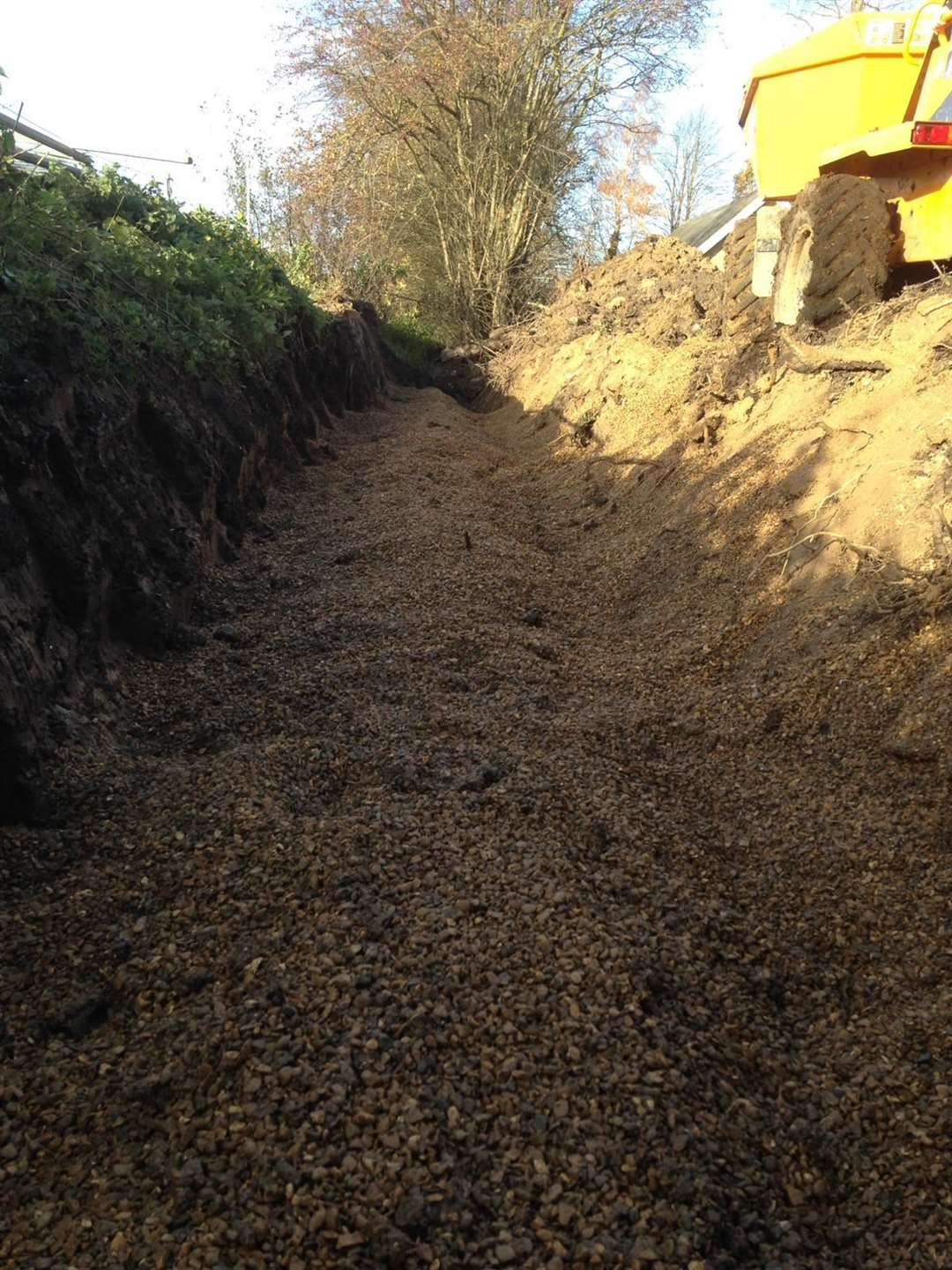 Developer Guy James Ltd says they have properly piped a drainage ditch and have submitted images including this one to prove it. (44370447)
