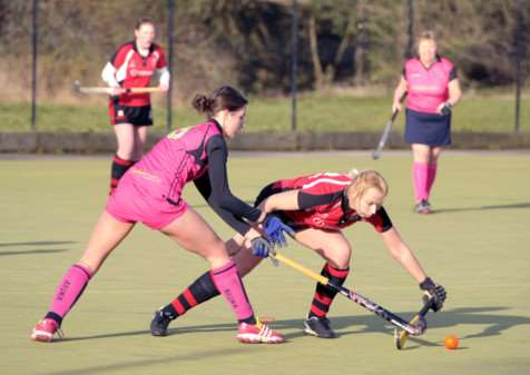 Hockey action Wisbech Ladies 2nd v Alford & District 1 ANL-150126-091417009