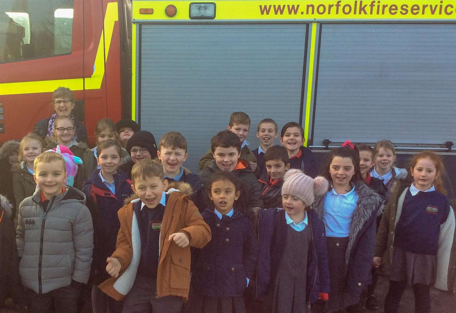 Fire engine visit sparks excitement at Tilney All Saints School