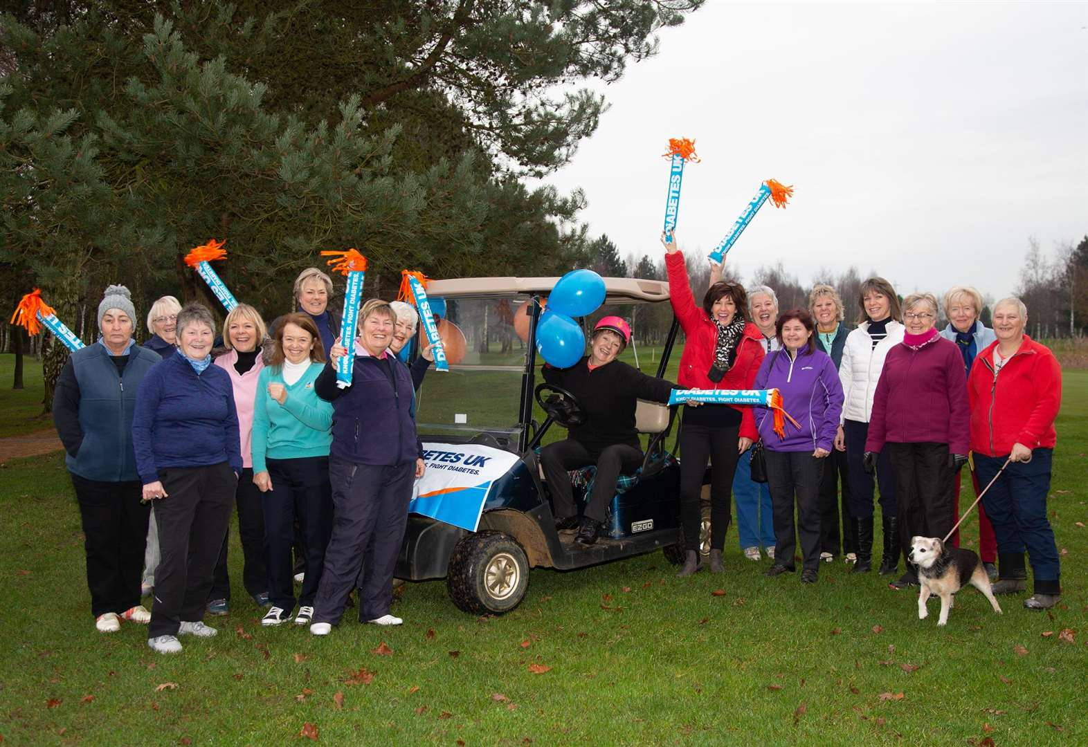 Tydd St Giles Golf Club 2019 ladies captain Liz starts with drive-in while celebrating her 60th birthday