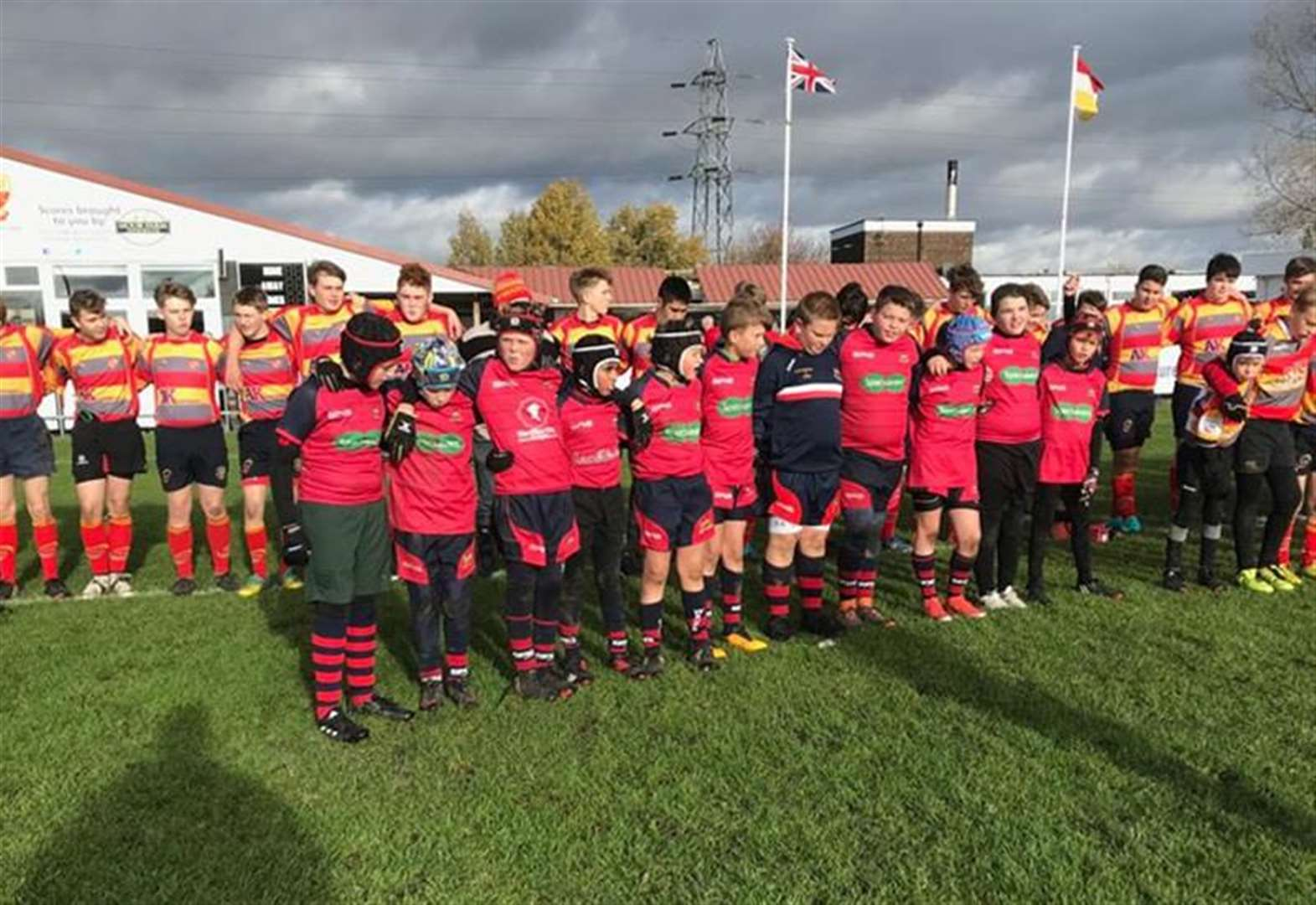 Wisbech U11s' Remembrance Sunday rugby tribute to the Fallen