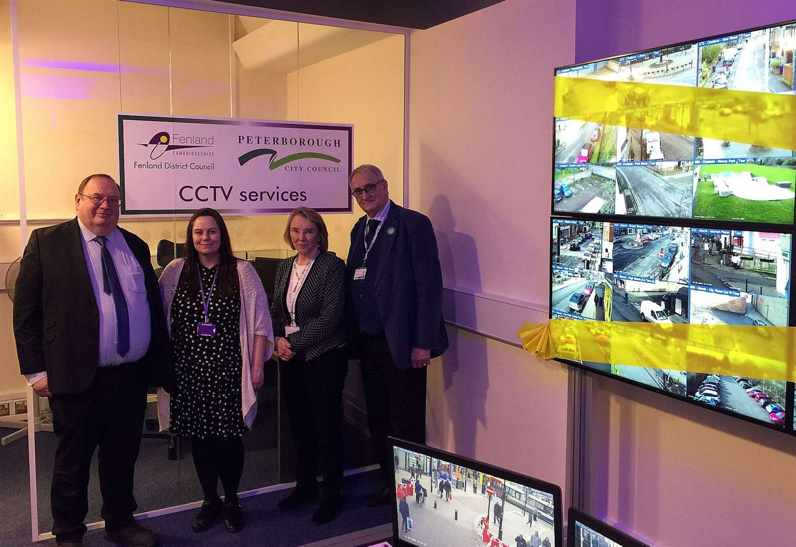 A new state-of-the-art CCTV control room which allows officers to monitor footage from across Peterborough and Fenland has been launched