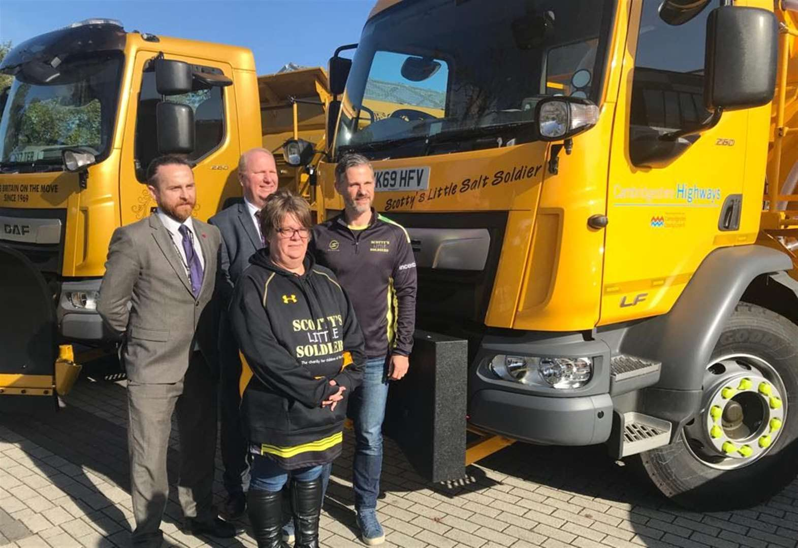 'Scotty's Little Salt Soldier' named after former March school student will be keeping Cambridgeshire's roads ice free this winter