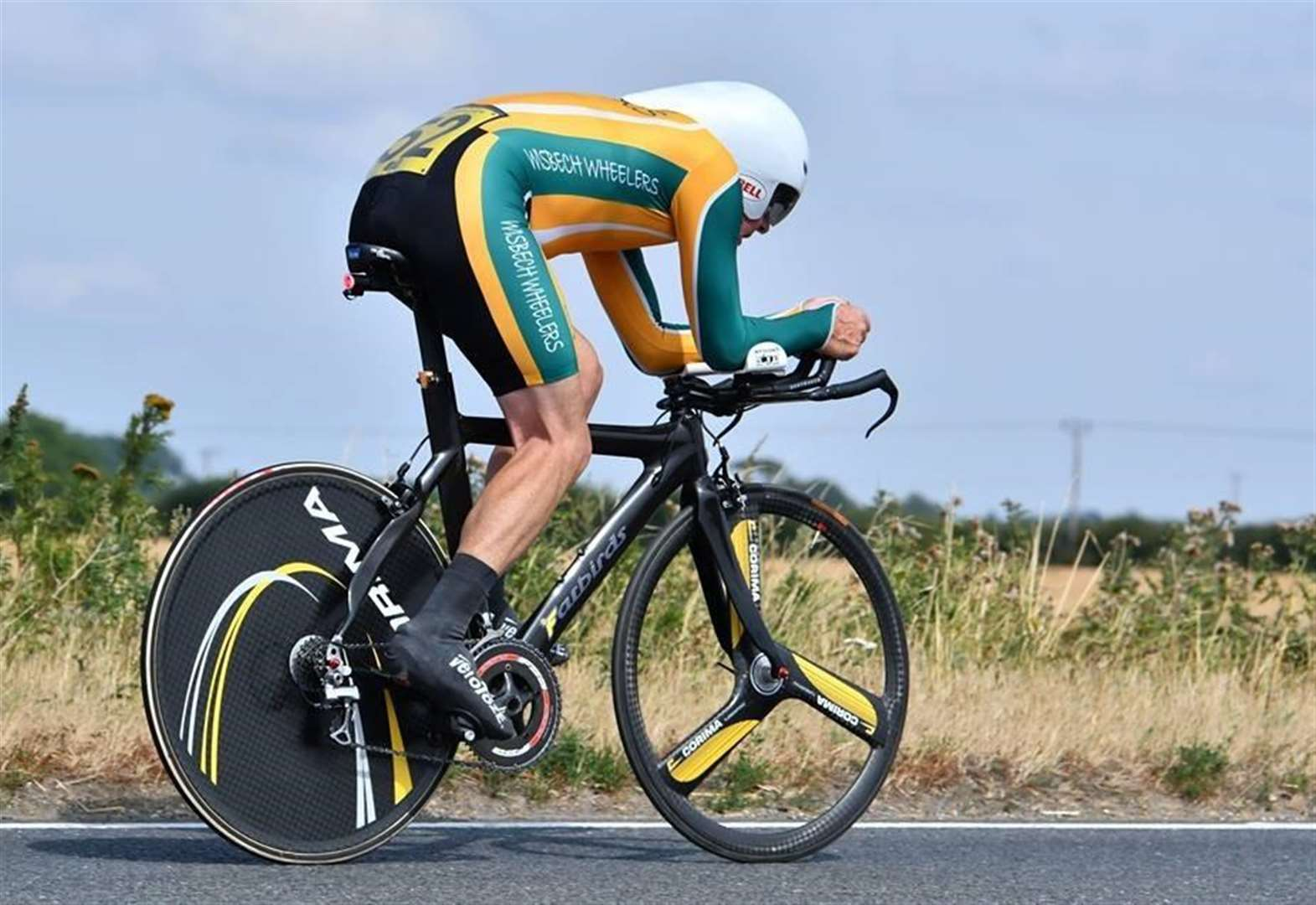Roger, 71, is fastest Wisbech Wheelers rider by one second near Newmarket