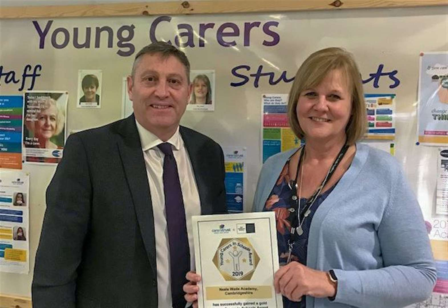 Neale-Wade Academy in March achieves Gold Young Carers Award