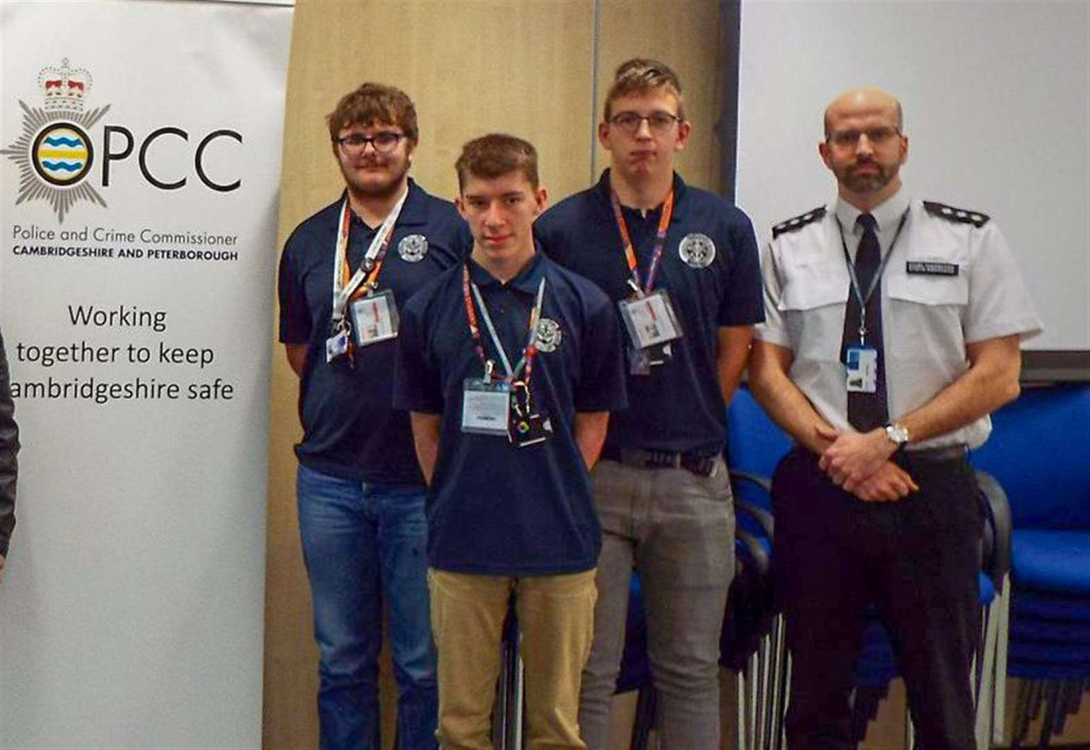 College of West Anglia students from Wisbech help to raise awareness of modern slavery with Cambridgeshire Constabulary