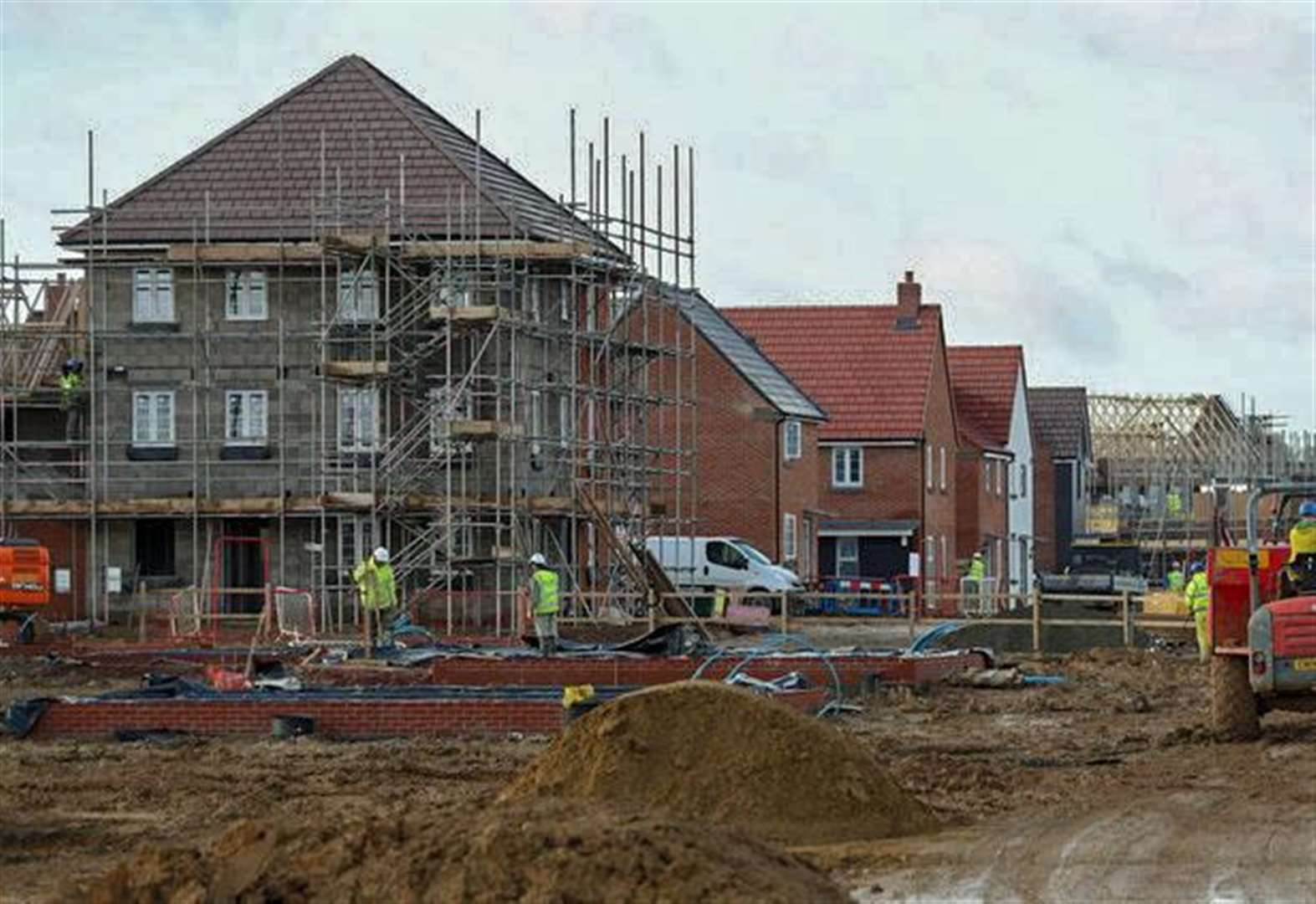 The number of houses completed in Fenland falls