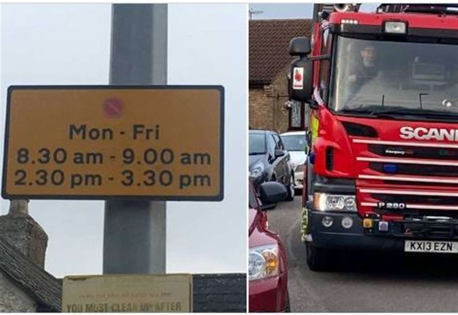 Emergency services tackle problem parking outside a school