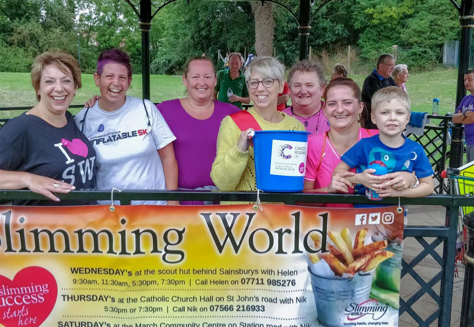 Members of March Slimming World groups complete park run to raise money for Cancer Research UK