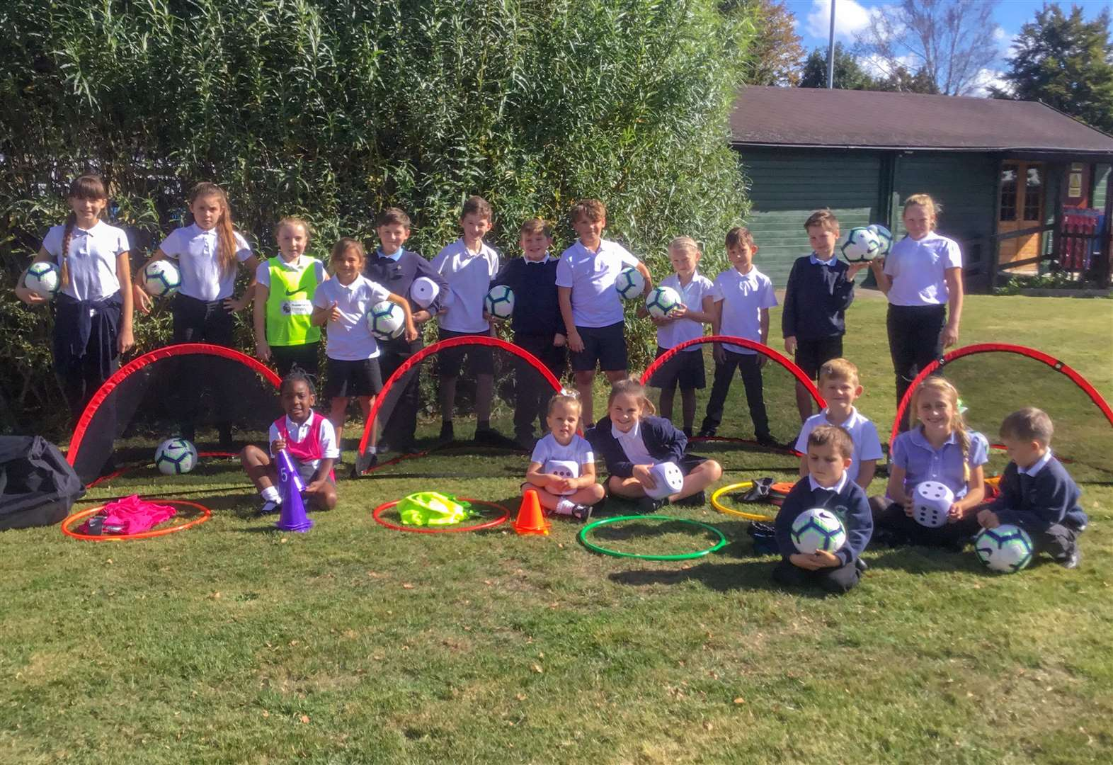 Murrow Primary Academy Primary stars score with new Premier League Primary Stars equipment