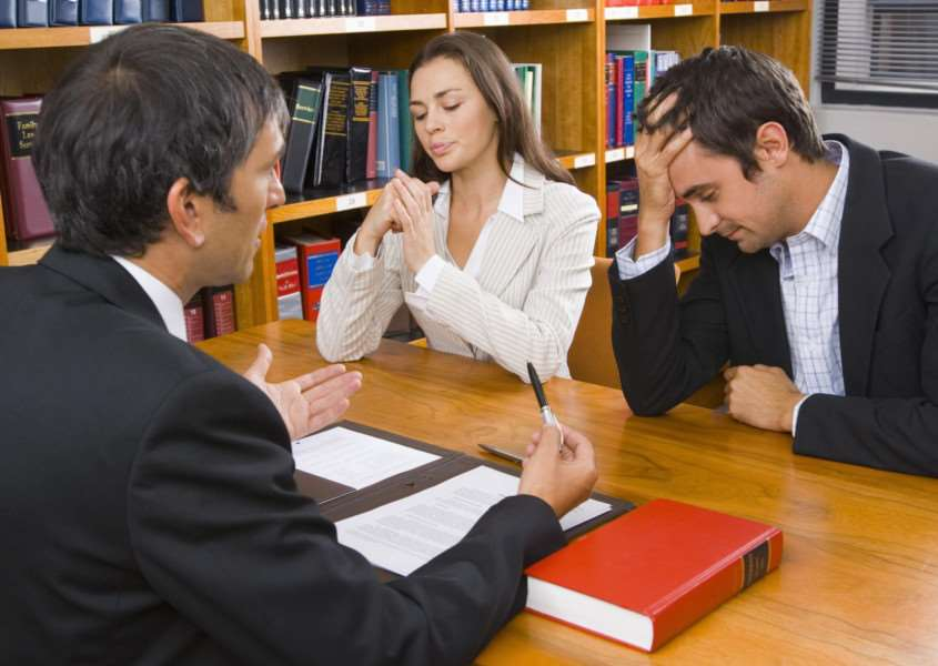 A Generic Photo of a couple visiting a divorce lawyer. See PA Feature WELLBEING Wellbeing Column. Picture credit should read: PA Photo/thinkstockphotos. WARNING: This picture must only be used to accompany PA Feature WELLBEING Wellbeing Column. ENGSNL00320120113153233