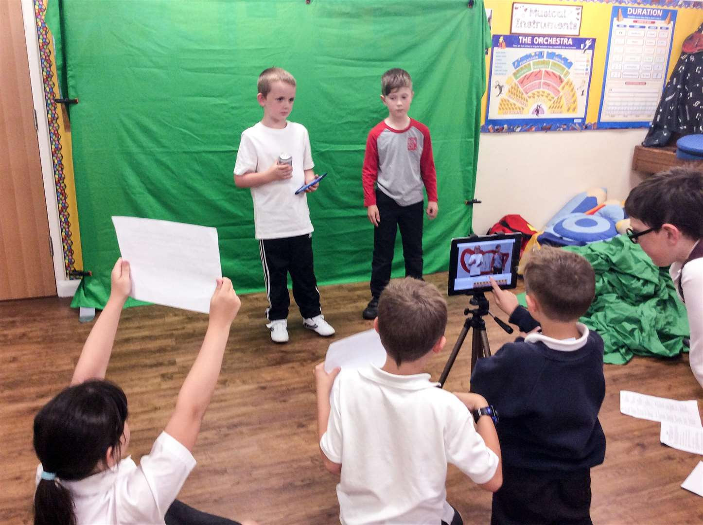 Children from Tydd St Mary school worked with Big Sky Arts to create a short film, which they then watched at a 'red carpet' premiere at the Luxe Cinema in Wisbech. (3297387)
