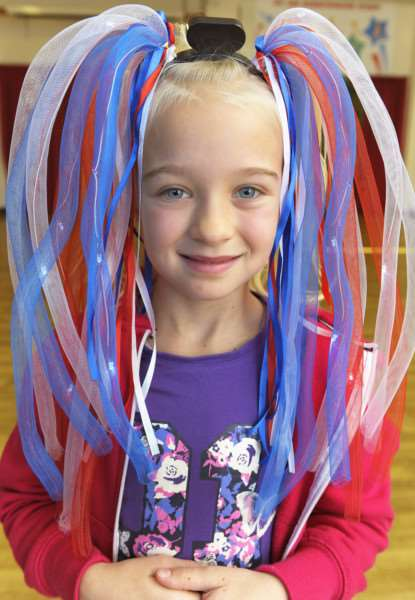 Burrowmoor Primary School in March, 'Pupils involved in the crazy hair day for Children In Need Appeal ANL-161118-154247009