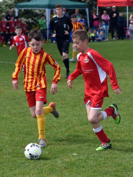 Action from March Rangers Youth Football Tournament'March Rangers v Tydd st Mary un 9 ANL-160522-214917009