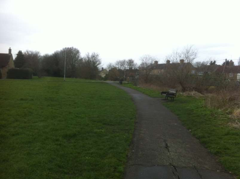 Wigstone's Road park where the alleged rape took place.