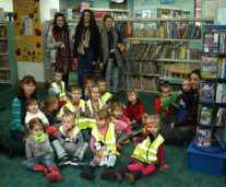College of West Anglia students at their Rhyme and Story time sessions in Wisbech Library