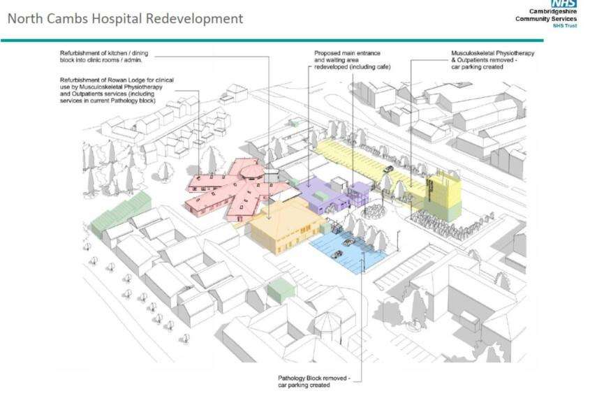 Plans for an �8 million redevelopment of the North Cambs Hospital in Wisbech have been announced