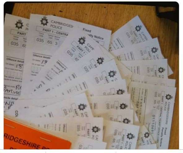 Parking fines issued by Fenland police in Wisbech (44183451)