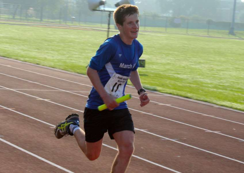 Jevan Robertson coming home on the last leg 17 Stowbridge to Kings Lynn ,11.73 miles and winning 1st Junior Prize