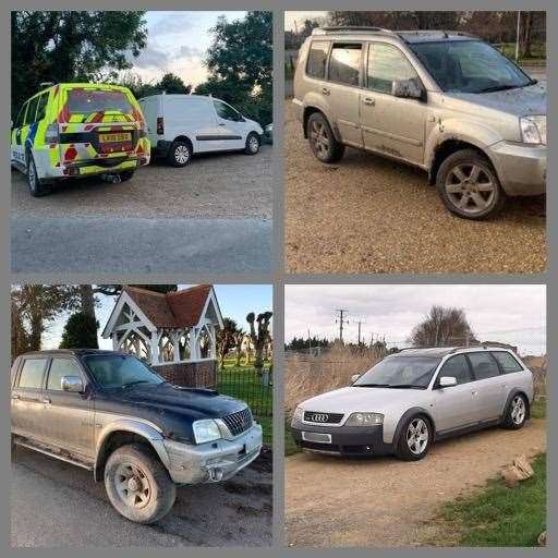 Police gave a tongue in cheek countdown of the top cars seized from hare coursers this season. (31708062)