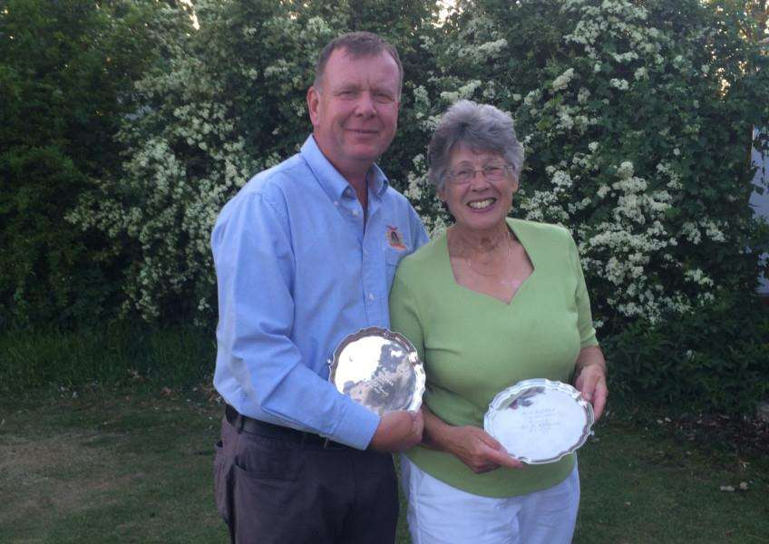 March GC Club Captain Malcolm George and his playing partner, Mrs Jo Rowlett beat of stiff competition, winning by just one point.