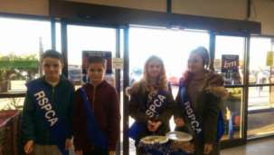 Youngsters collectin for the RSCPA in B&M store in March