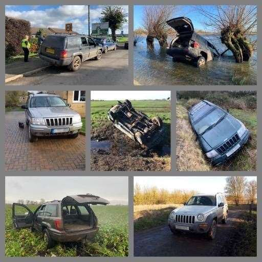Police gave a tongue in cheek countdown of the top cars seized from hare coursers this season. (31708056)