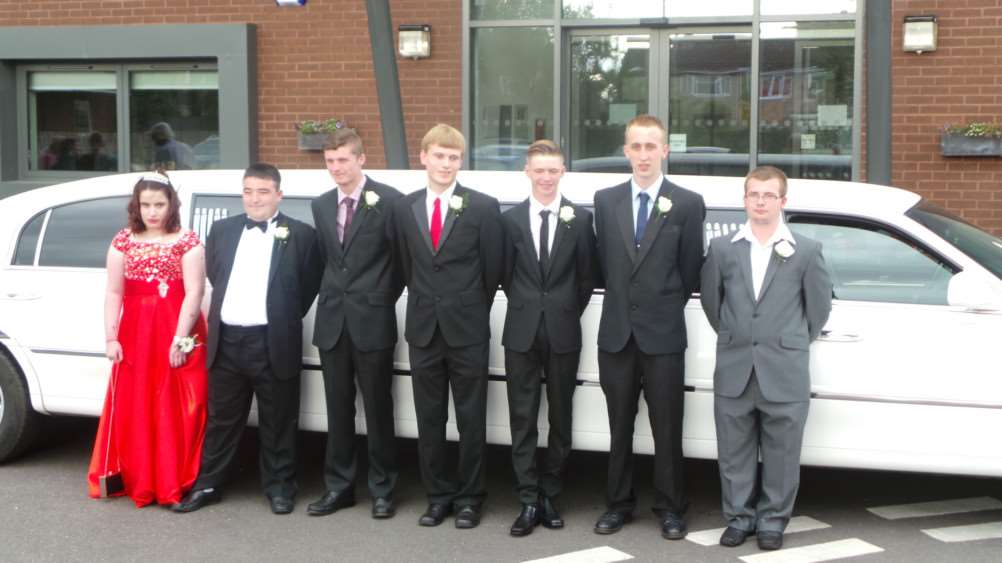 Sixth form leavers' prom at Meadowgate school, Wisbech.