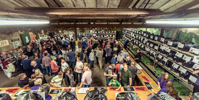Flashback: A packed Elgood's Beer Festival in 2014.