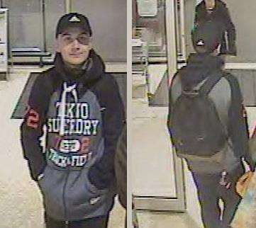 Sam Mechelewski captured on CCTV at Sainsbury's in Huntingdon, huors later he was murdered. (6821627)