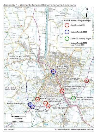 Wisbech Access Strategy aims to improve the local highway network around Wisbech and includes long term, short term and medium term schemes.