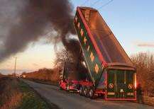 Lorry fire in Chatteris PICTURE: CAMBRIDGESHIRE FIRE AND RESCUE