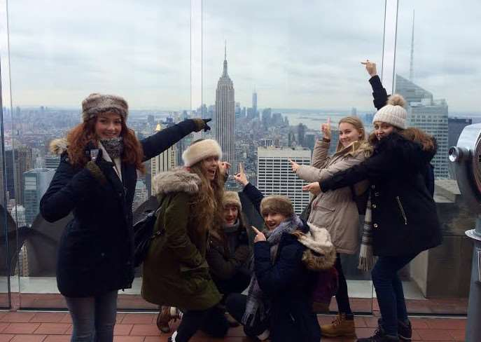 Chatteris school pupils in New York