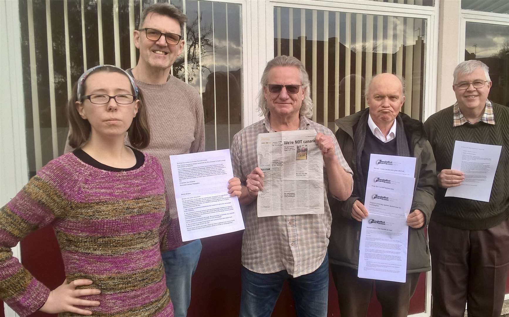 The local Unite union is backing the WisWin anti-incinerator campaign. (31346783)