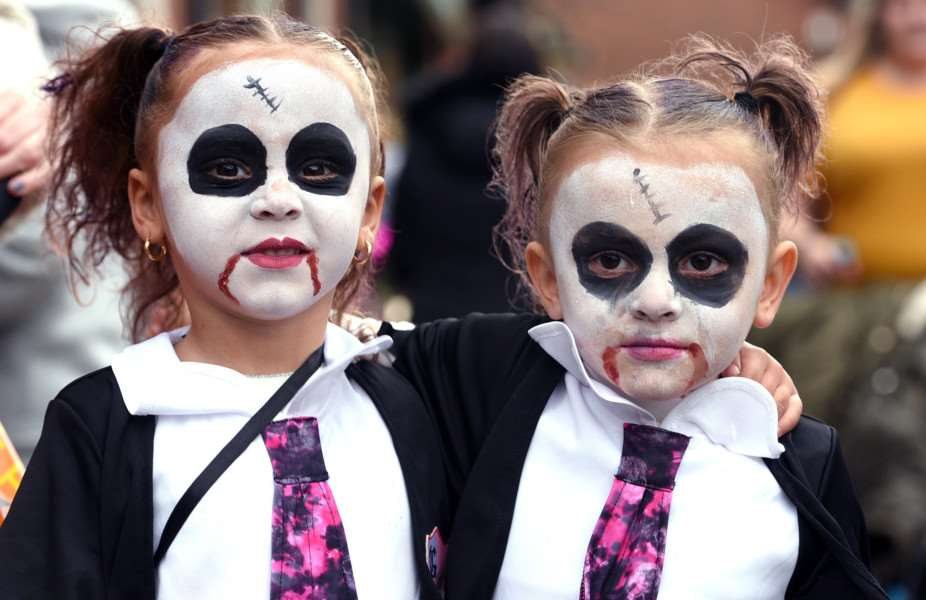 Wisbech Town Centre's Spooktacular Halloween Event''Demi Hernandez 3 and Tia Davies 4