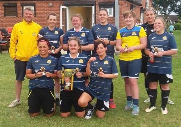 March Town Ladies put two teams into the Hungate Rovers 6 A Side