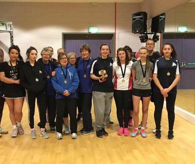Ouse valley no strings ladies badminton medals and 4th 1.2019 (6816304)
