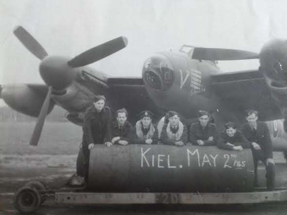 Brian Emsley discovered this picture of the last bombing raid of the Second World War in his father's photograph album