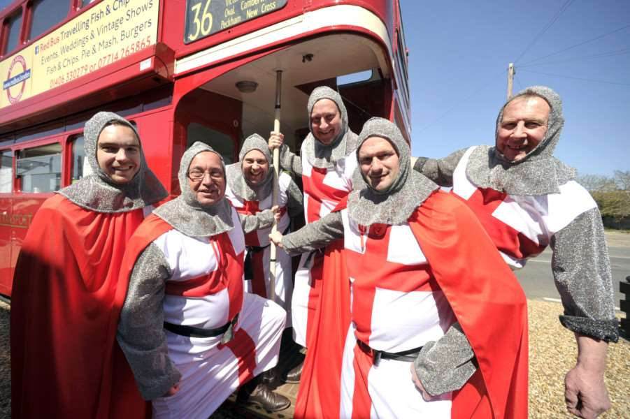 St Georges day celebrations at the Six Ringers pub Leverington ANL-150424-082437009