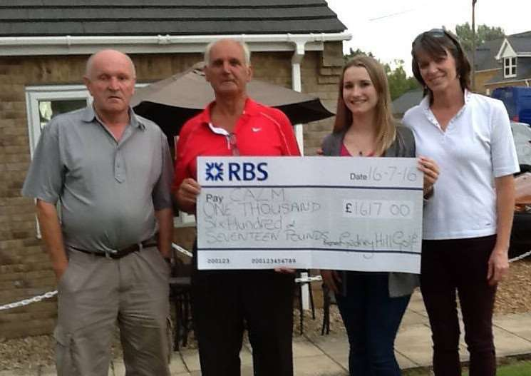 The picture attached shows Charles Britton (owner); Colin Rust (Club Captain) Lynn Exley (Lady Captain) presenting a cheque to Colin's granddaughter Tylia. TUGUJUMHqktxiLVudDmL
