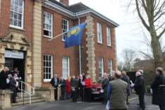 The Commonwealth flag raising ceremony in Fenland