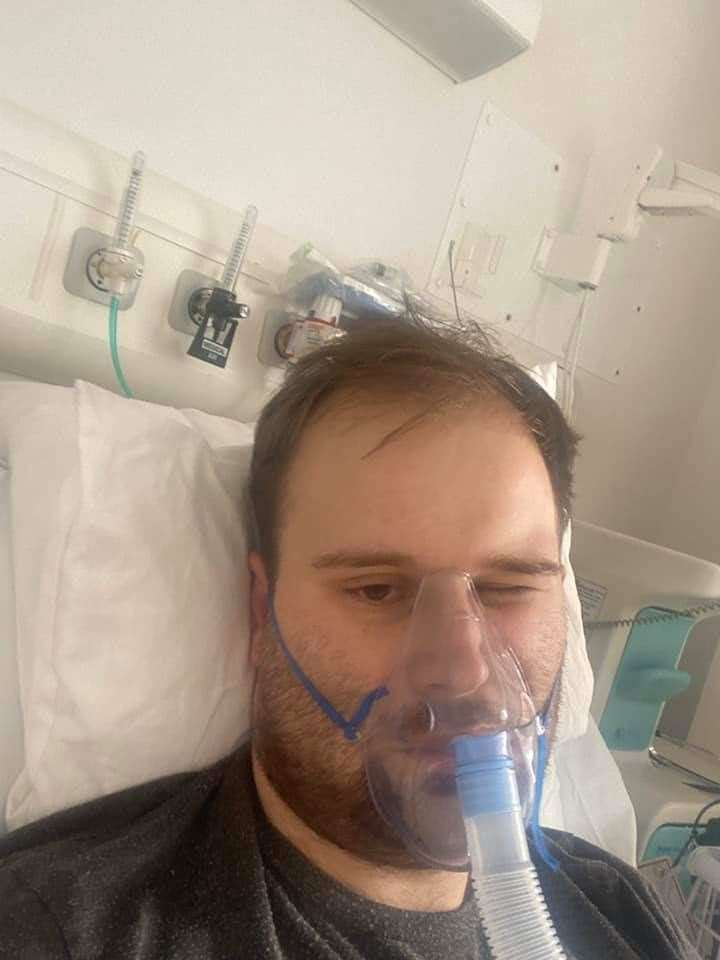 Ryan Van Waterschoot, formerly from Wisbech, is now recovering from Covid-19 after being hospitalised last week. Facebook. (32242488)