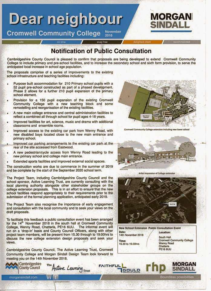 The letter that went out inviting the public to the public consultation last November.