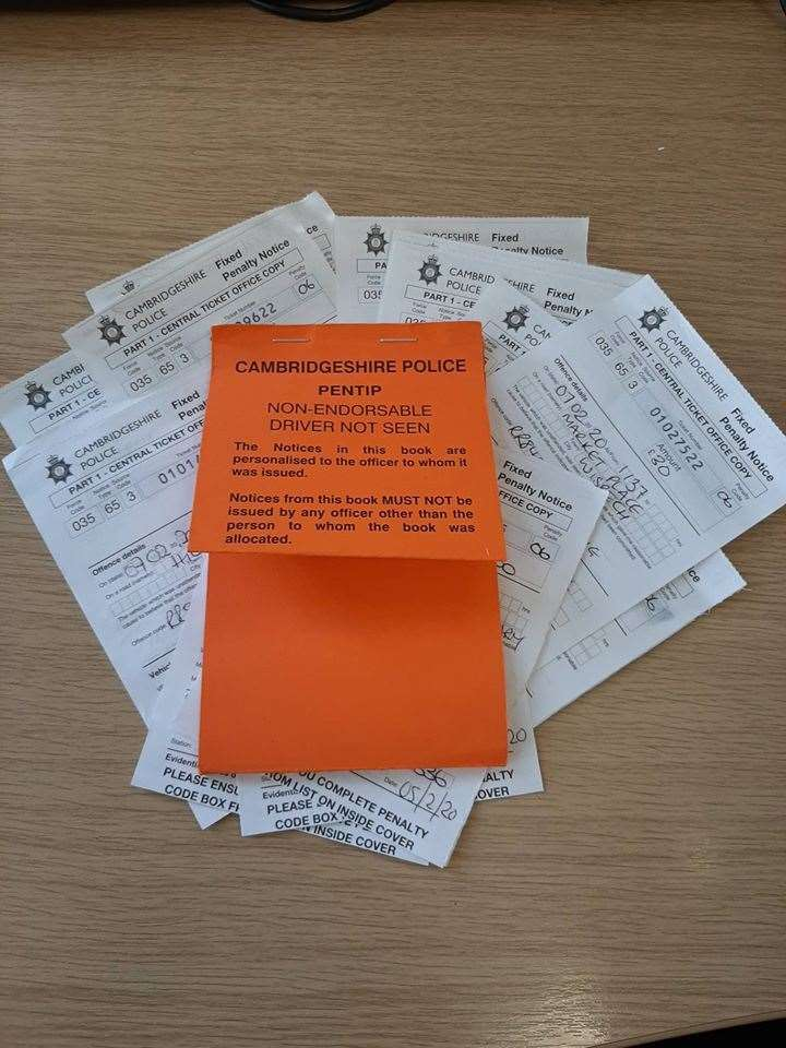 PCSOs have been issuing parking tickets in Wisbech today. (28612006)