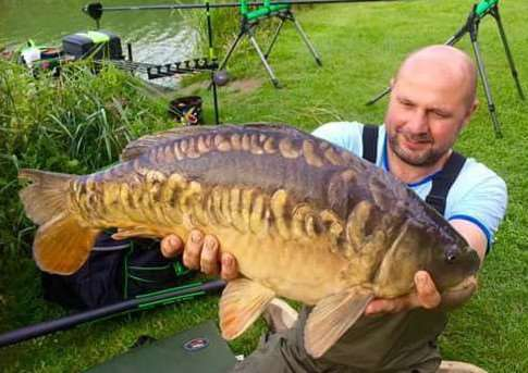 A big carp taken from Buttonhole Fishery